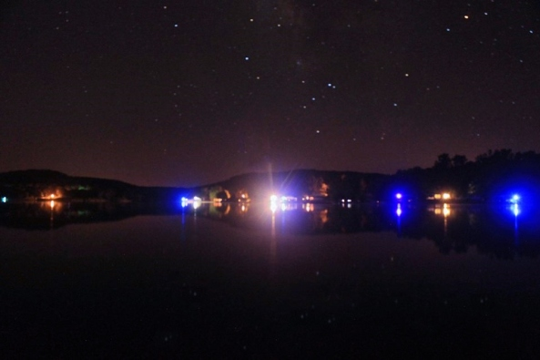 Starry night at the lake of the Ozarks