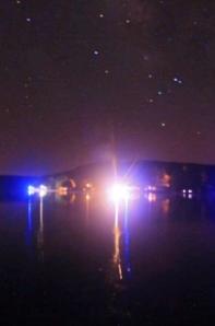 Swimming under the stars in Camdenton, Missouri.